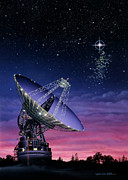 The Search For Extraterrestrial Intelligence Print by Lynette Cook