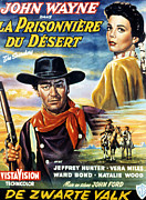 1956 Movies Posters - The Searchers, Aka La Prisonniere Du Poster by Everett