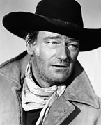 1950s Portraits Photo Metal Prints - The Searchers, John Wayne, 1956 Metal Print by Everett