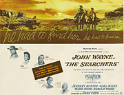 1956 Movies Prints - The Searchers, John Wayne, Natalie Print by Everett