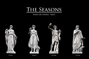 Black Background Art - The Seasons by Fabrizio Troiani