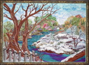 Fall Scenes Paintings - The seasons by Kathy McNeil