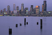 The Seattle Skyline Print by Phil Schermeister