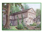East Hampton Painting Framed Prints - The Second David Buell House Framed Print by Katherine  Berlin