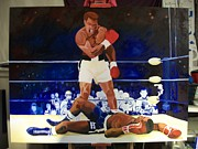 Ali Painting Originals - The Second Fight Ali-Liston by Charis Kelley
