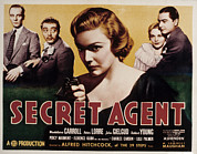 Films By Alfred Hitchcock Photo Posters - The Secret Agent, John Gielgud, Peter Poster by Everett