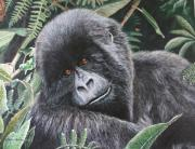 Gorilla Mixed Media Posters - The Secret Garden Poster by Cindy Weitzel