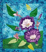 Morning Tapestries - Textiles - The Secret Life of Flowers by Maureen Wartski
