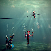 Underwater Digital Art - The Secret Venetian Circus by Martine Roch