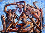 Surrealism Tapestries Textiles - The seduction of the muses by Darwin Leon