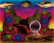 Surrealistic Mixed Media Prints - The Seed-pod Song Print by Eric Edelman
