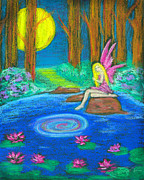 Magic Pastels Posters - The Seeing Pond Poster by Diana Haronis