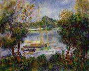 Mast Paintings - The Seine at Argenteuil by Pierre Auguste Renoir