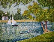 Seurat Originals - The Seine at La Grande Jatte by Orla Cahill