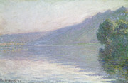 Signature Prints - The Seine at Port Villez Print by Claude Monet
