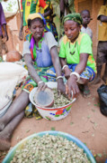 Burkina Faso Prints - The Selling of Okra I Print by Irene Abdou