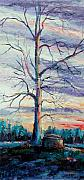 Lone Tree Painting Framed Prints - The Sentinel Framed Print by Ginger Concepcion