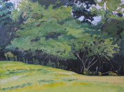 Francois Fournier Paintings - The September Apple Tree Hatley Quebec Canada by Francois Fournier