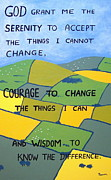 Catholic Art Painting Originals - The Serenity Prayer by Eamon Reilly