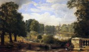 Wooded Paintings - The Serpentine by Jasper Francis Cropsey