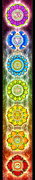 Healing Digital Art Posters - The Seven Chakras - Ed. 2012 Poster by Dirk Czarnota