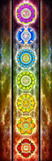 Chi Digital Art Posters - The Seven Chakras - Ed. 2012 II Poster by Dirk Czarnota