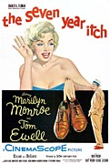 1950s Movies Framed Prints - The Seven Year Itch, Marilyn Monroe Framed Print by Everett