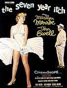 Films By Billy Wilder Framed Prints - The Seven Year Itch, The, Marilyn Framed Print by Everett