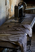 Old Cabins Prints - The Sewing Machine Print by Lorraine Devon Wilke