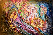 Hebrew Paintings - The Shabbat Queen by Elena Kotliarker