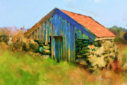 Norway Painting Framed Prints - The Shack Framed Print by Michael Greenaway