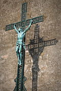 Grillwork Prints - The Shadow of Jesus Print by Kent Sorensen