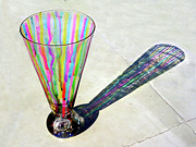 Festive Glass Art - The Shadow Of Melting Colors by Farah Faizal