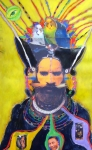 Hoodoo Pastels - The Shaman by Mike  Mitch