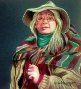 Pencil Drawing Pastels Prints - The Shaman Print by Susan Bergstrom