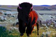 Bison Digital Art - The Shamans Buffalo by David Lee Thompson