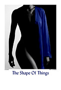 Figure Study Photos - The Shape Of Things - Blue Robe by Jerry Taliaferro