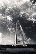 Lenny Carter Framed Prints - The Shard and London Bridge Framed Print by Lenny Carter