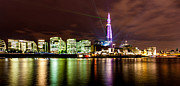 Lasers Framed Prints - The Shard Lasers Framed Print by Dawn OConnor