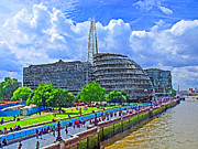 Tallest Digital Art Posters - The Shard London Poster by Peter Allen