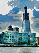 Tallest Digital Art Posters - The Shard of Glass Poster by Steve Taylor