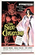 1956 Movies Photo Posters - The She-creature, Paul Blaisdell, Marla Poster by Everett