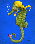 Seahorse Paintings - the Shehorse... by Will Bullas