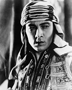 Valentino Prints - The Sheik, Rudolph Valentino, 1921 Print by Everett