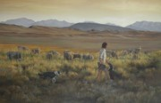 Art Of Mia Delode Prints - The shepherdess Print by Mia DeLode