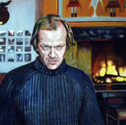 Jack Nicholson Painting Originals - The Shining - Jack Nicholson by Francisco  Ramirez