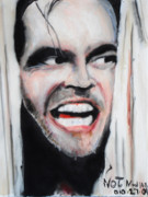 Horror Movies Paintings - The Shining by Jon Baldwin  Art