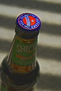 Beer Bottle Cap Art - The Shipyard by Bill Owen