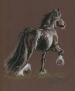 Equine Pastels Posters - The Shire Poster by Terry Kirkland Cook