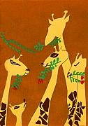 The Short Necked Giraffe 1 Print by Lily Hymen